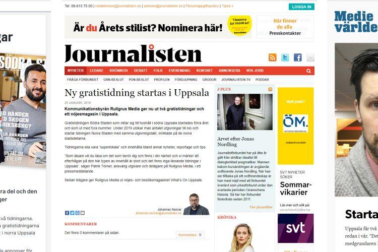 Flera medier skriver om Norra och Södra Staden